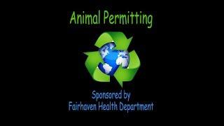 Animal Permitting