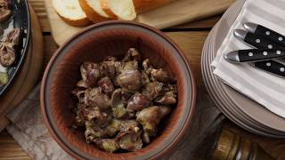 Жареные куриные сердечки на сковороде