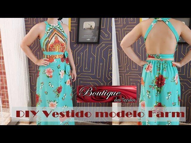 3dc5def6d DIY – Vestido Longo da Farm – Saia não precisa de molde – Curso de Corte e  Costura