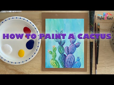 How to paint a beginner level cactus! online painting class