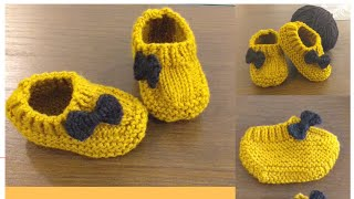 Baby Moccasins | Boots | Shoes | Loafers (3-12) Months { Knit }.