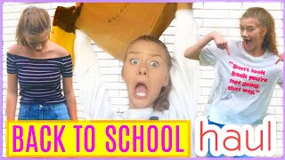 BACK TO SCHOOL (TRY ON) CLOTHING HAUL! High School 2017