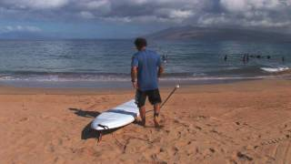 SUP instruction with Dave Kalama: How to Stand Up Paddle Board:  Lesson 02  - Pick Up Board