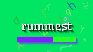 "How to say ""rummest""! (High Quality Voices)"