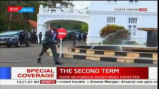 President Uhuru and his deputy William Ruto to leave state house and make his way to Kasarani