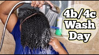 WASH DAY ROUTINE ON 4B/4C NATURAL HAIR