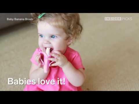 Baby Zahnbürste um das Zähne putzen zu lernen