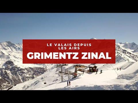 Le Valais depuis les Airs / Grimentz et Zinal