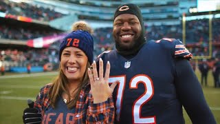 NFL Player Proposes to Girlfriend Right After Winning Game