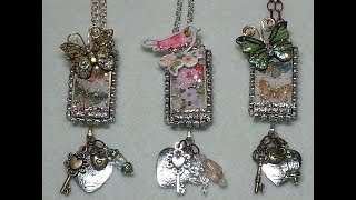 DIY~Make Gorgeous  & Simple Mixed Media Domino Pendant Necklaces! | Kholo.pk