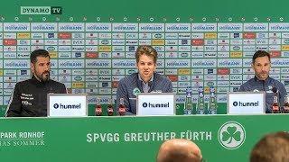 25. Spieltag | SGF - SGD | Pressekonferenz nach dem Spiel