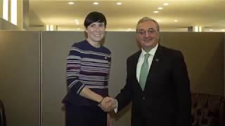 Встреча Министра иностранных дел Армении с Министром иностранных дел Норвегии