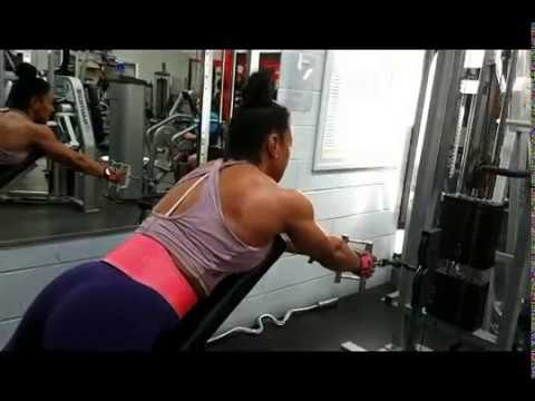 Incline Bench Low Pull Cable Row