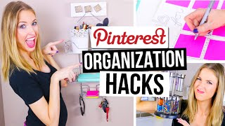 PINTEREST HACKS... TESTED! #4    Desk & Room Organization!