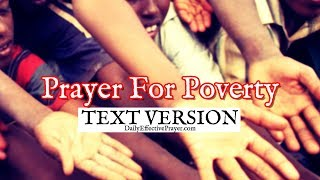 Prayer For Poverty (Text Version - No Sound)
