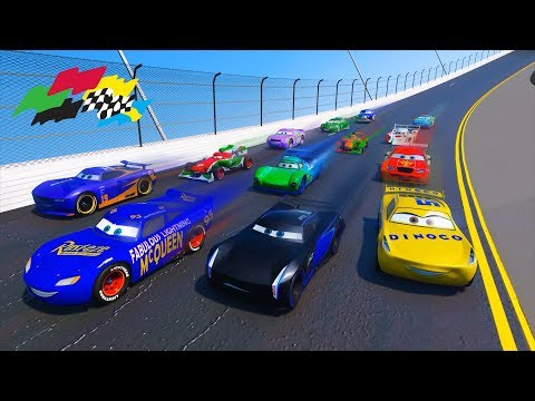 Race Cars 3 Daytona Fabulous Lightning McQueen Jackson Storm Cruz Ramirez Danny Swervez And Friends