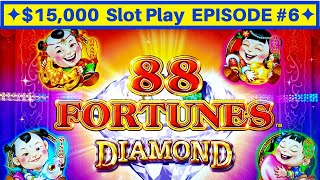 88 Fortunes Diamond Slot Machine Max Bet Live Play | EPISODE-6 | Live Slot Play w/NG Slot