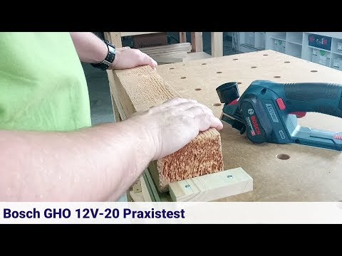 Bosch Akku-Hobel GHO 12V-20 im Praxistest