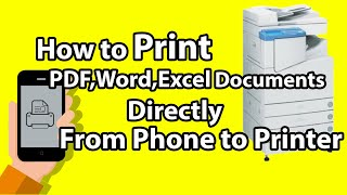 How to Print (PDF,Word,Excel) Documents Directly from Android Mobile Phone to Canon Printer