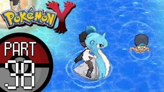 Pokemon X And Y   Part 38: Route 12   Surfing With Lapras And Tyrunt Evolves!