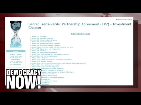 TPP: Secretive Deal Isn't About Trade, But Corporate Control