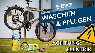 Richtig E-Bike putzen   Achtung Elektronik