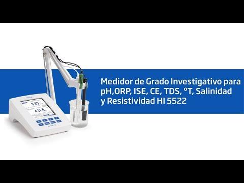 Vídeo Tutorial HI 5522 Medidor de grado para investigación con Cal Check™