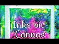 Painting with ink on canvas beginners tutorial how to paint background easy simple quick method