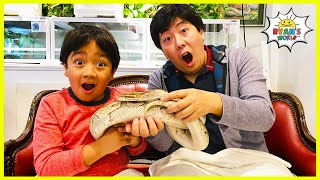 Ryan's Pet Snake playtime at the Cafe!!!