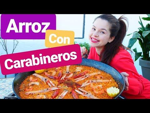 Arroz con marisco. Como hacer arroz con carabineros gambones y necoras de 10 #lacocinadelucia chef.