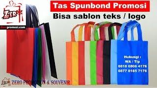 Jual Tas Spunbond Promosi Murah Bisa sablon teks / logo
