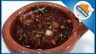 Salsa picosa #2, SALSA DE CHILE MORITA, serie de salsas | Chef Roger