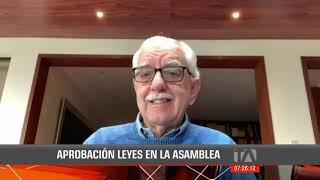 Abelardo Pachano analiza las leyes Humanitaria y de Finanzas Públicas