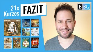 Fazit: Parks, Coloma, Spicy, Pictures, Detective Club, Azul3, Little Town, Flügelschlag, ...