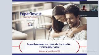 En partenariat avec l'Union des Français de l'Étranger – Investissement au coeur de l'actualité : l'immobilier géré (Février 2021)