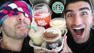 BLINDFOLD COFFEE FAST FOOD CHALLENGE ft. Derek Gerard