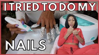 Doing My Own Gel Nails??? *First Time* | Quarantine Vlog