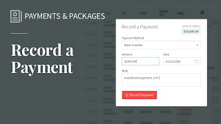 Record Invoice Payments