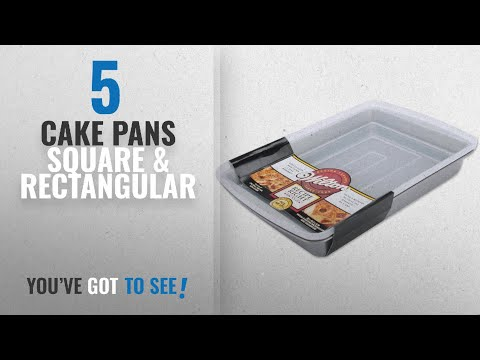 Top 10 Cake Pans Square & Rectangular [2018]: Wilton Recipe Right 9x13 Oblong Pan with Cover