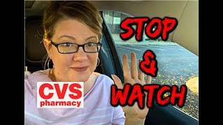 CVS STOP & WATCH | MUST WATCH....HOLD CRT'S FOR 11/3!