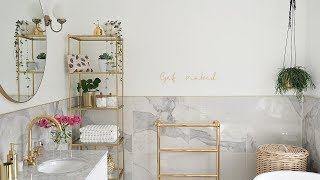 Marble & Gold Bathroom Reveal