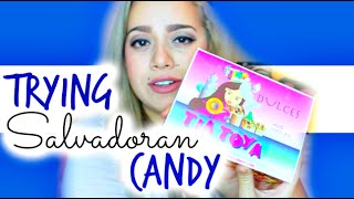 Trying Candy From El Salvador