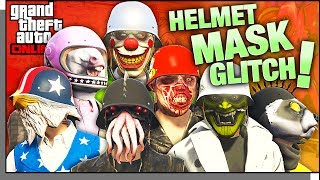 *INSANE NEW CLOTHING GLITCH! Put ANY Helmet On Over ANY Mask! GTA ONLINE Modded Outfit