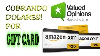 ValuedOpinions| Cobrando en Gift-Card Amazon