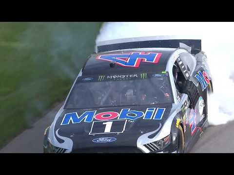 Harvick captures the flag at Michigan again as drivers play fuel-mileage game