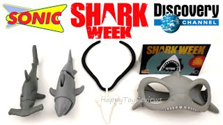 2016 SHARK WEEK SONIC DRIVE-IN KIDS MEAL TOYS DISCOVERY CHANNEL COMPLETE SET 5 TOY COLLECTION REVIEW