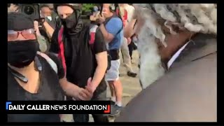 Black Man Defends Lincoln Statue In Front Of Angry Protesters