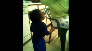 My son arguing with my mom lol !!! Bad ass