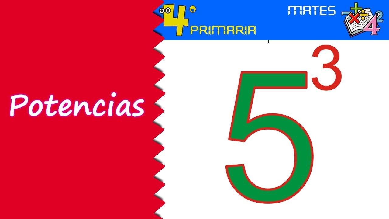 Matemáticas. 4º Primaria. Tema 11. Potencias
