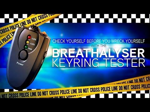 Breathalyser Keyring Tester